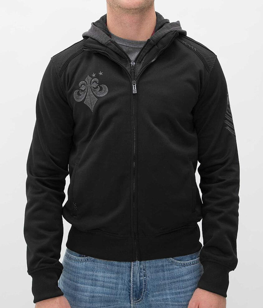 Affliction Black Premium Ruthless Jacket front view