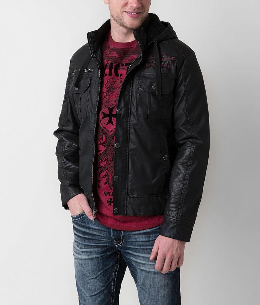 Affliction Black Premium Dark Battle Jacket front view