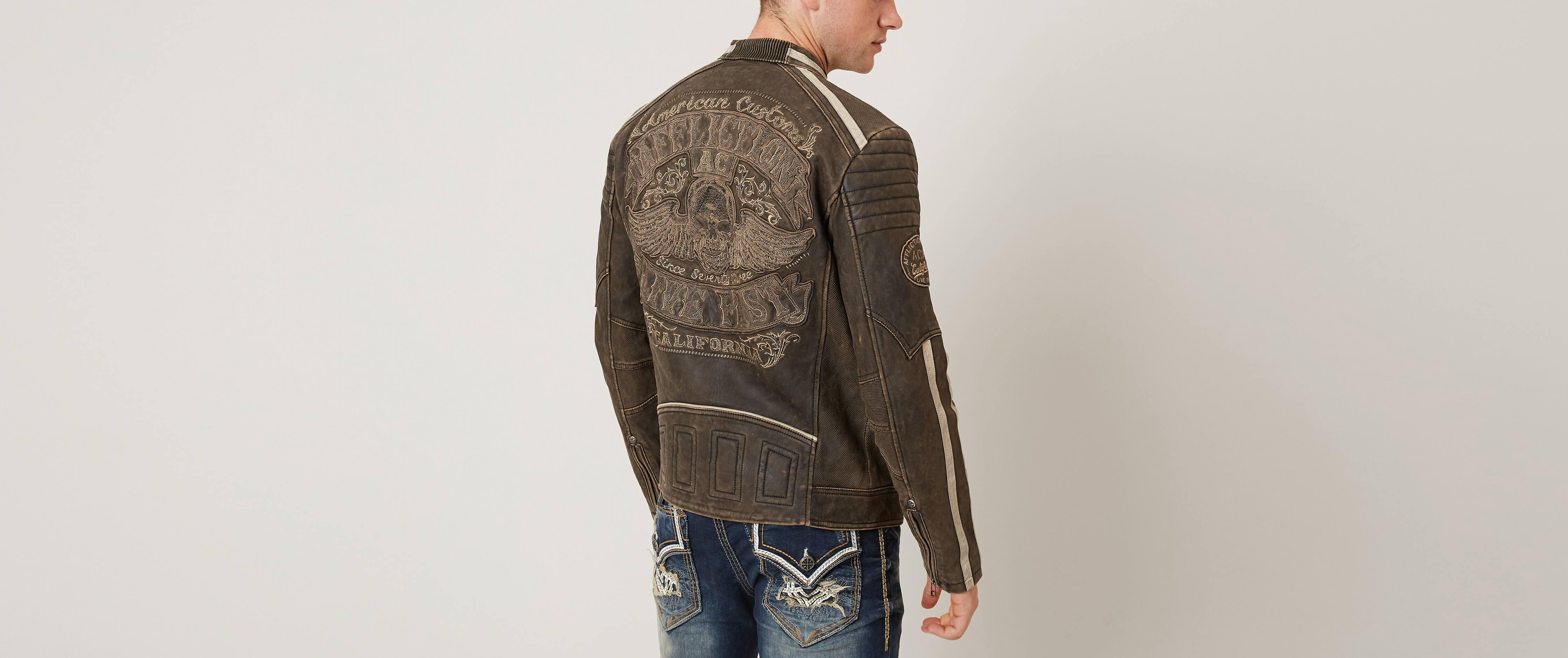 db6ca6a03 Affliction Black Premium Black Skull Jacket [6XuXh0112524] - $53.99