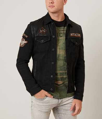 Affliction Black Premium Bike Cutter Jacket