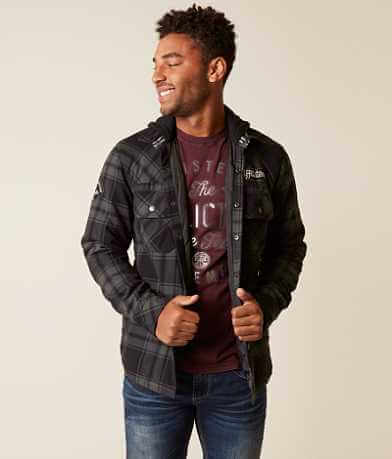 Affliction Black Premium Logan Flannel Jacket