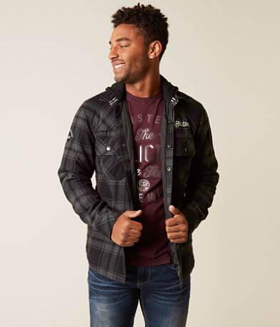 Affliction Black Premium Logan Flannel Jacket