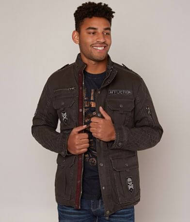 Affliction Black Premium Double Clutch Jacket