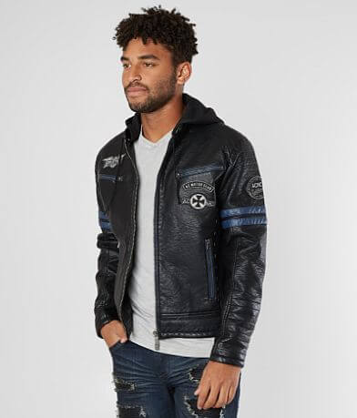 Affliction Black Premium Contempt Hooded Jacket