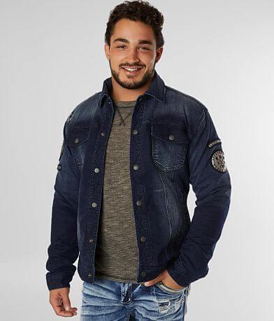 Affliction Nomad Reversible Denim Stretch Jacket