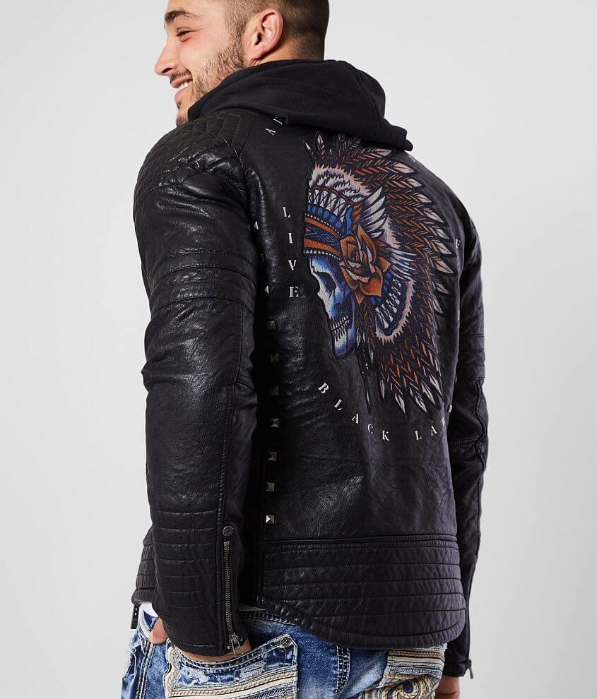 Affliction Tacena Faux Leather Jacket front view
