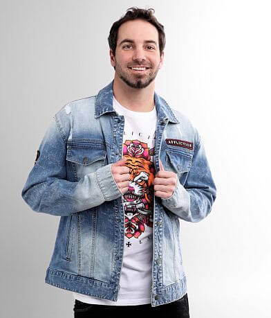 Affliction Oath Denim Stretch Jacket