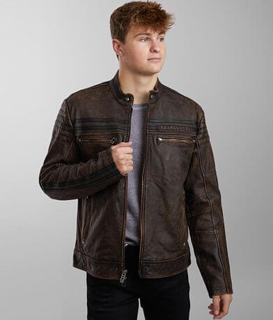 Affliction Affinity Distressed Leather Jacket