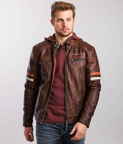 Affliction Awaken Distressed Faux Leather Jacket