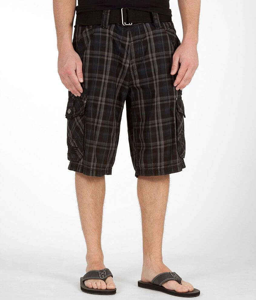 Affliction Black Premium Mystery Cargo Short front view