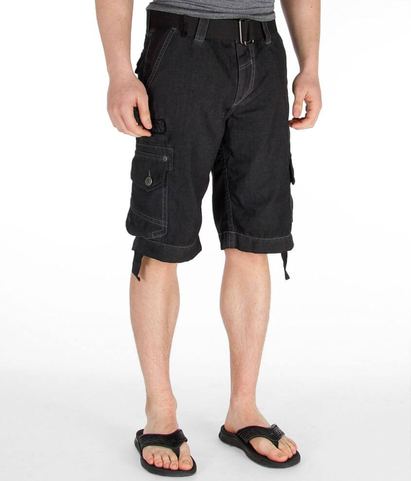 Affliction Fracture Cargo Short front view