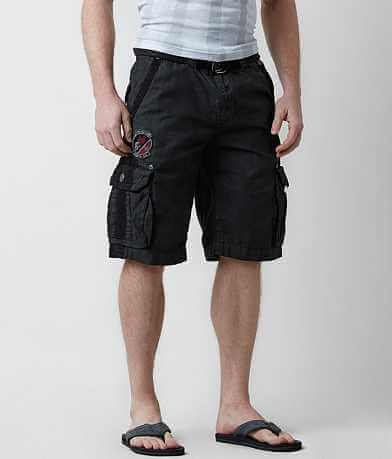 Affliction Black Premium Fort Hunter Cargo Short