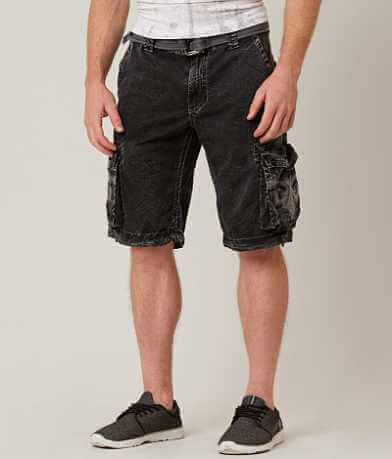 Affliction Black Premium Dark Storm Cargo Short
