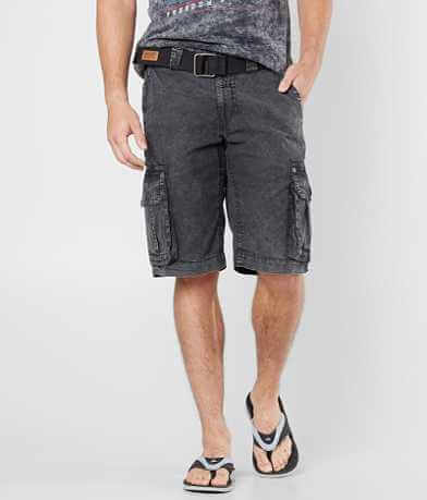 Affliction Black Premium Night Watch Cargo Short