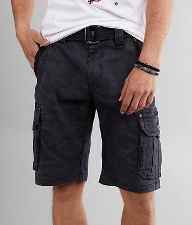 Affliction Gunsmoke Camo Cargo Stretch Short