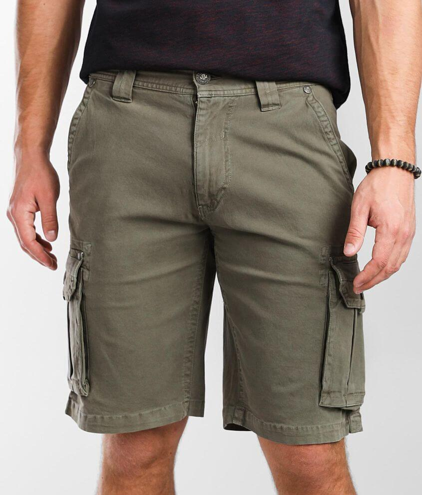Affliction Departed Cargo Stretch Short front view