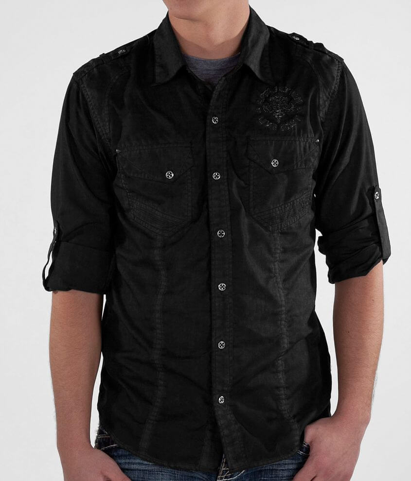 Affliction Black Premium Black Ink Shirt front view