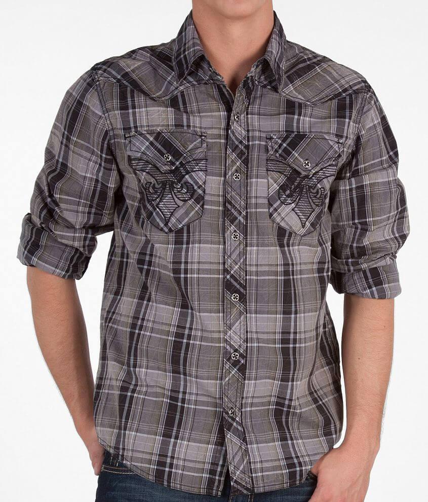 Affliction Black Premium Snap Shirt front view