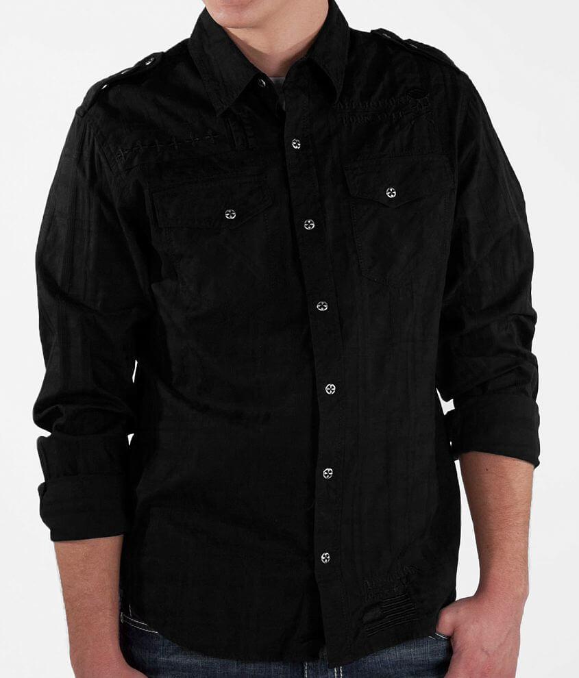 Affliction Black Premium Eastside Shirt front view