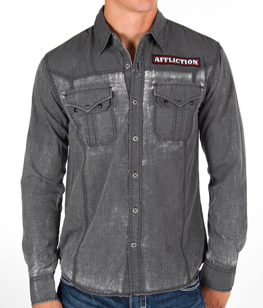 Affliction Black Premium Pendulum Shirt front view