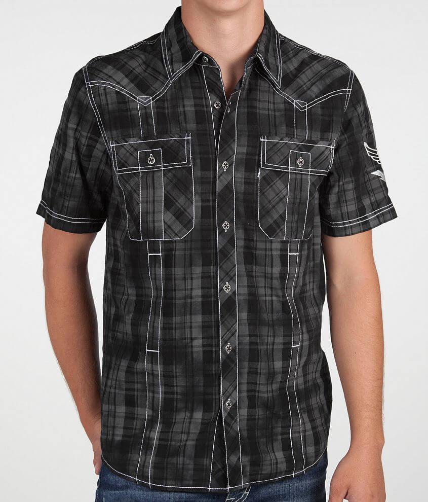 Affliction Black Premium Eclipse Shirt front view