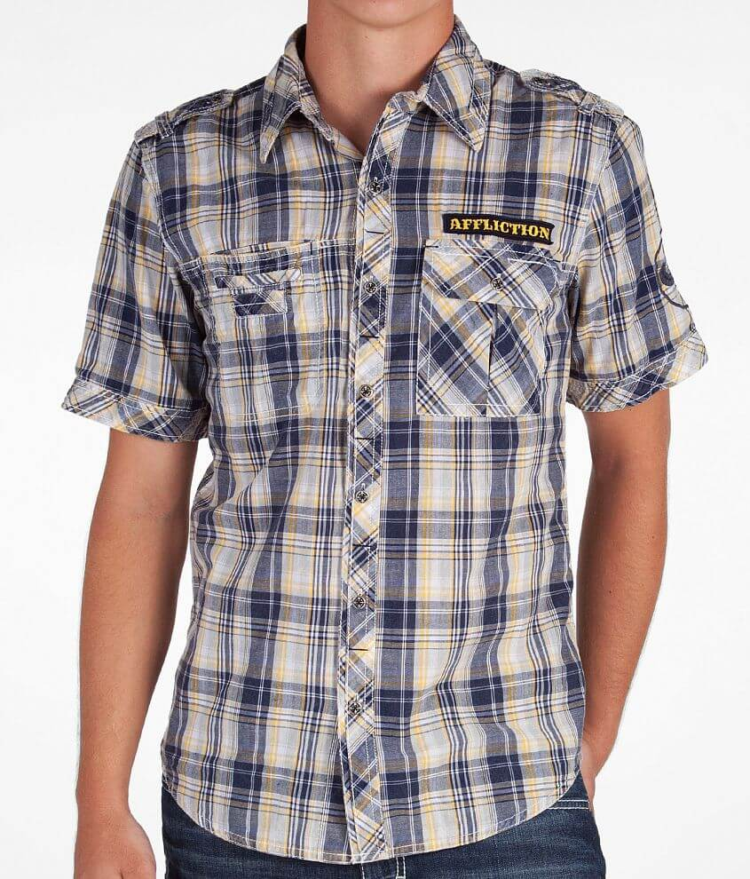 Affliction Black Premium Imprinted Shirt front view