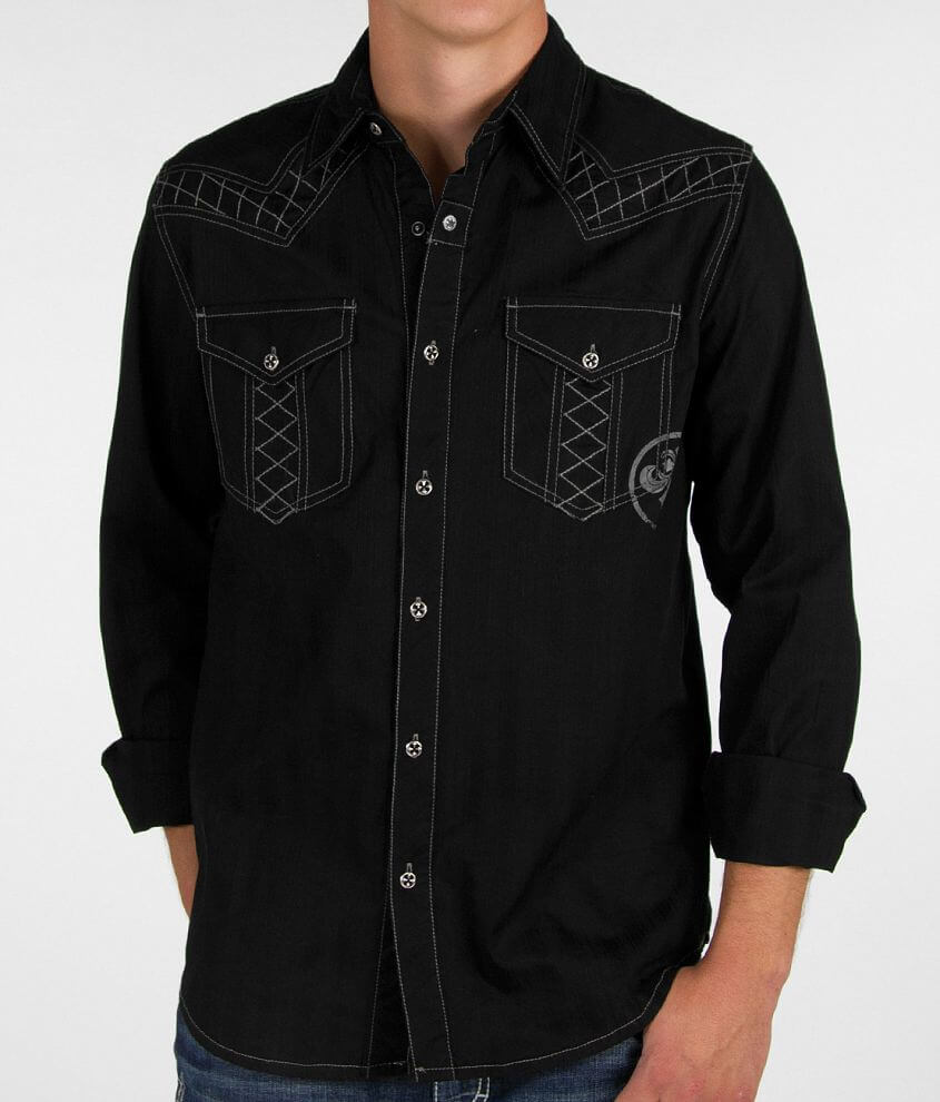 Affliction Black Premium Dark Chaos Shirt front view