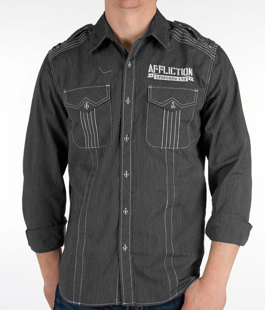 Affliction Black Premium Element Shirt front view