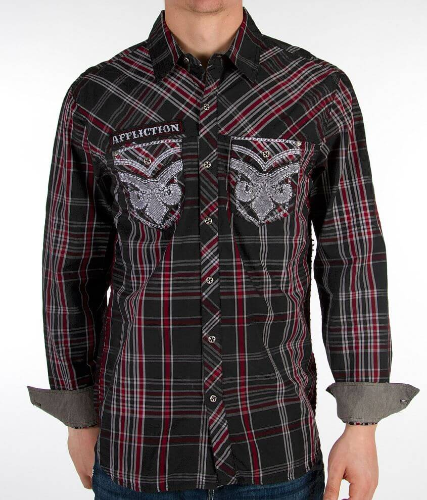 Affliction Black Premium Collateral Shirt front view