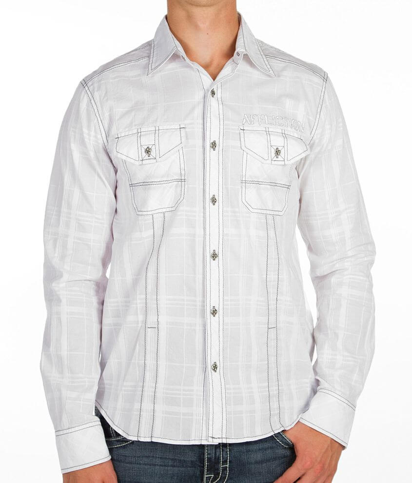 Affliction Black Premium Impulsive Beat Shirt front view