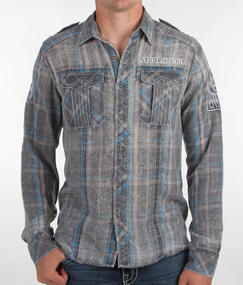 Affliction Wave Length Shirt front view