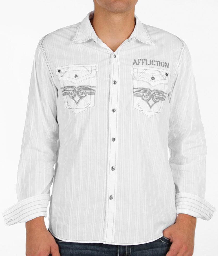 Affliction Black Premium Eastern Promise Shirt front view