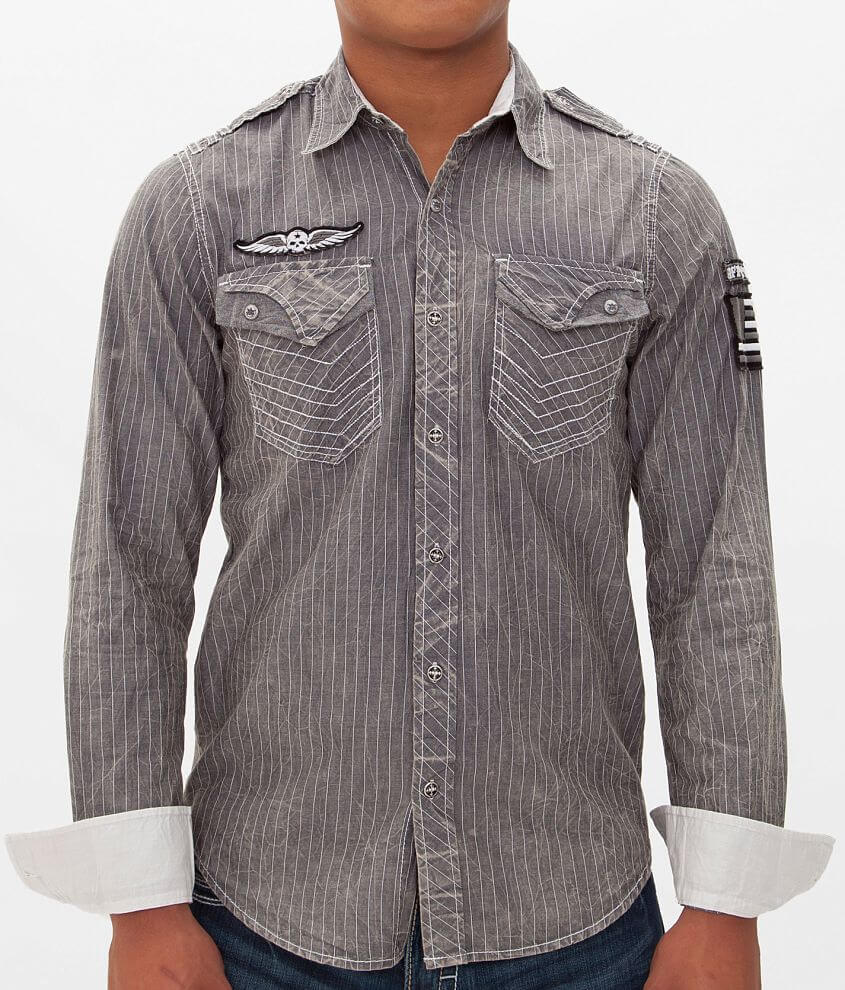 Affliction Black Premium Undercover Shirt front view