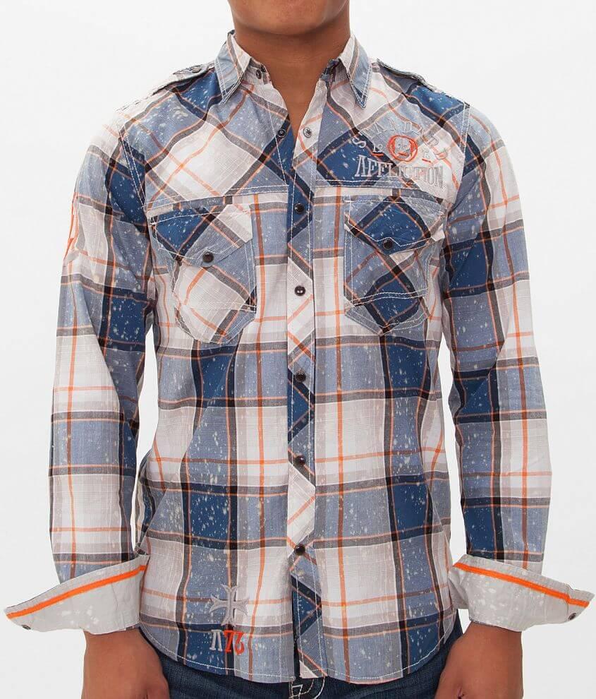 Affliction Black Premium Intercare Ease Shirt front view