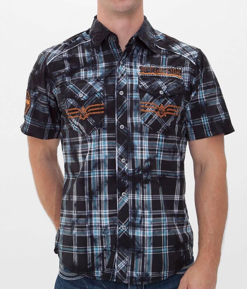 Affliction Black Premium Bottom Lands Shirt front view