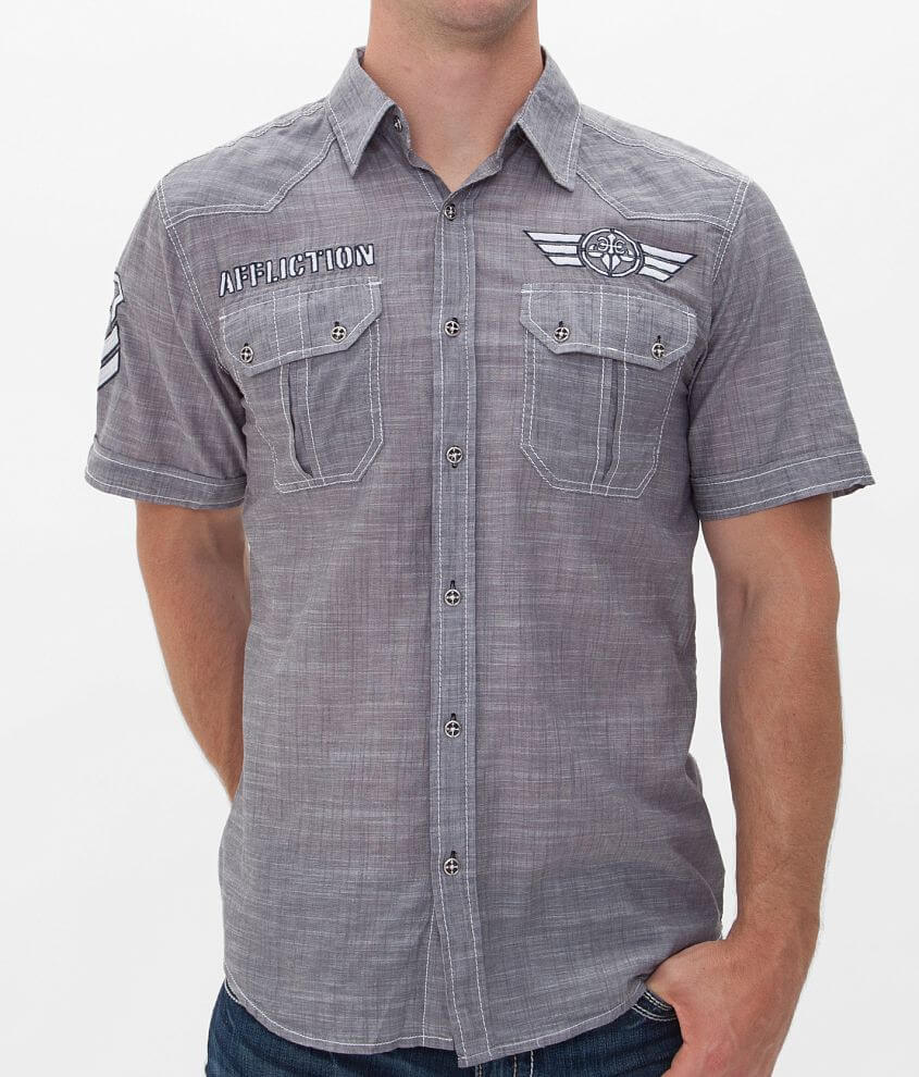 Affliction Black Premium Pretend Up Shirt front view