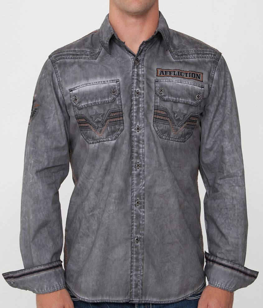 Affliction Black Premium Ace High Shirt front view
