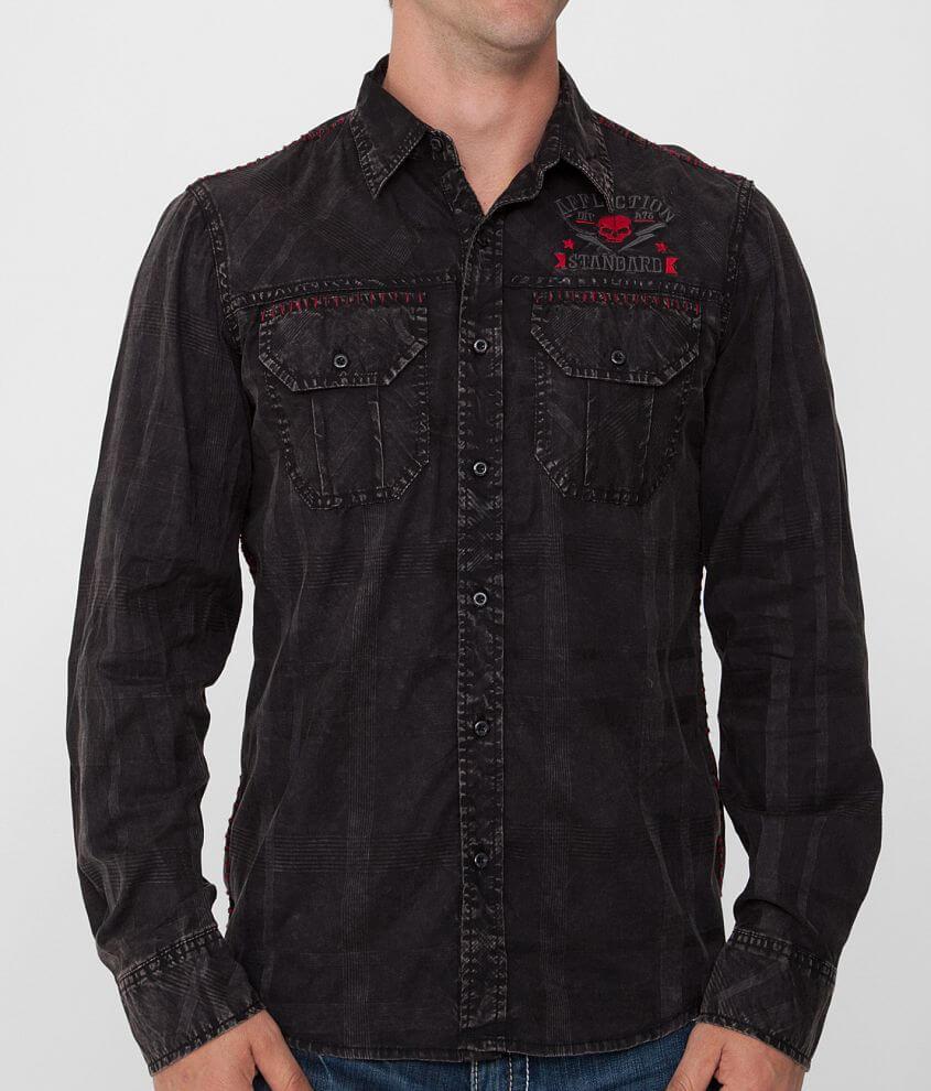 Affliction Black Premium Paramount Shirt front view