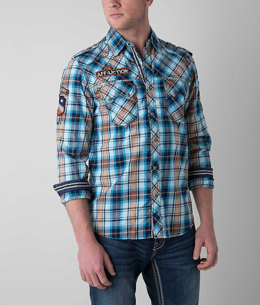 Affliction Black Premium Respect Tradition Shirt front view