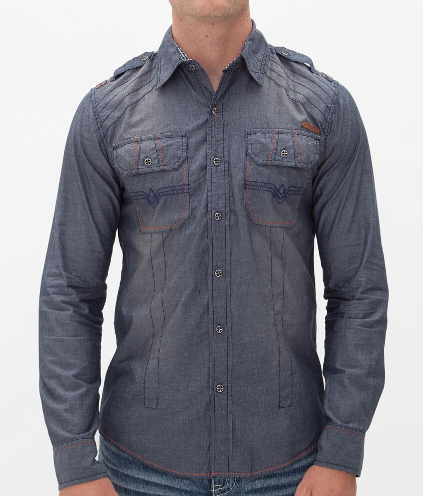 Affliction Black Premium Firewater Shirt front view