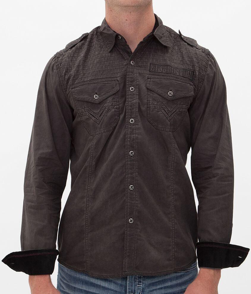 Affliction Black Premium Rousers Shirt front view