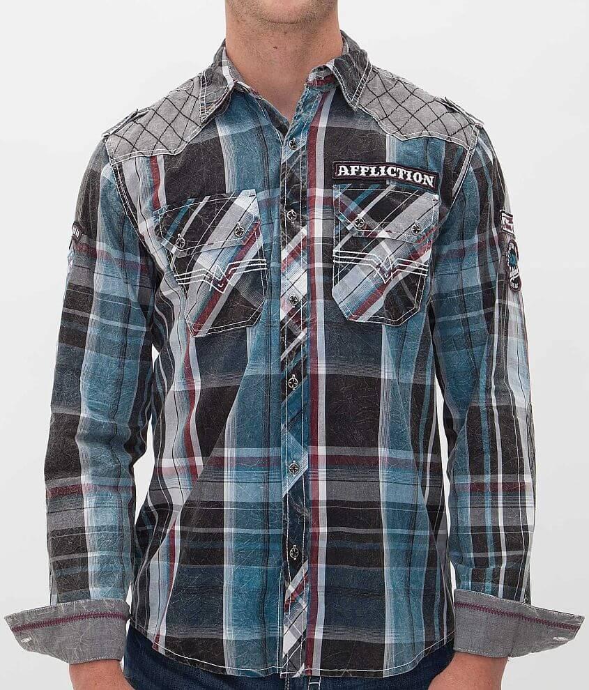 Affliction Black Premium Night Hawk Shirt front view