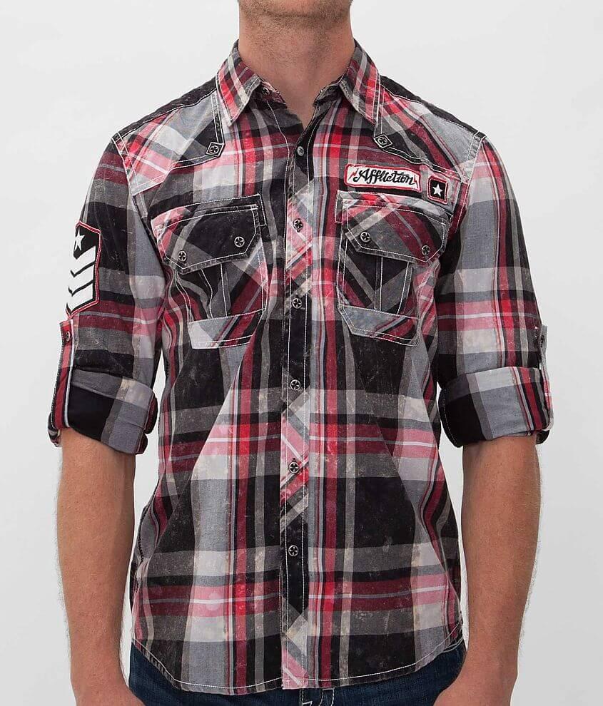 Affliction Black Premium Contend Shirt front view