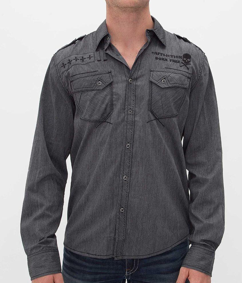 Affliction Black Premium Revolve Shirt front view