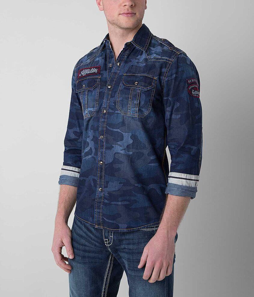 Affliction Black Premium Vertigo Shirt front view