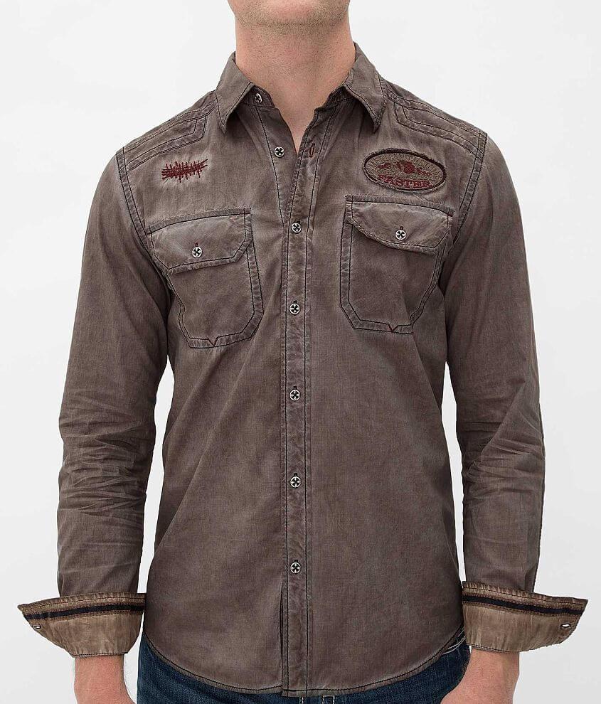 Affliction Black Premium Canyon Run Shirt front view