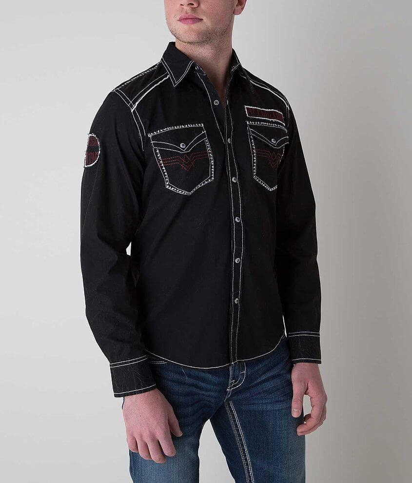 Affliction Black Premium Horsepower Shirt front view