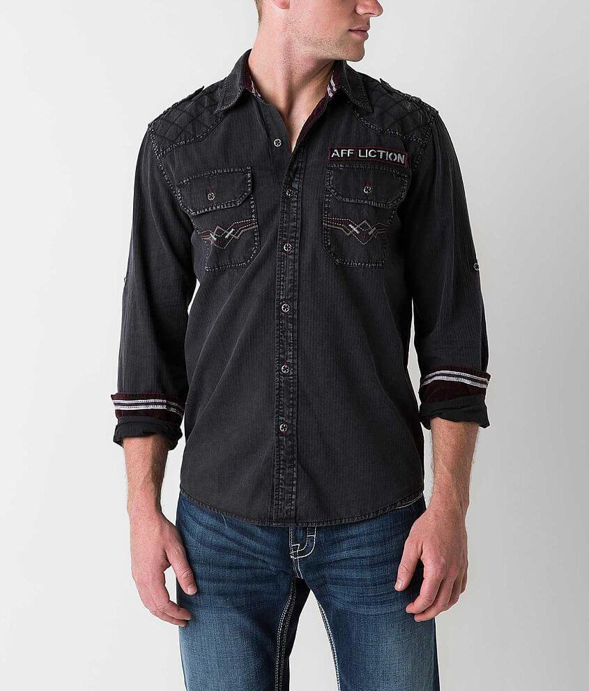 Affliction Black Premium Abandon City Shirt front view