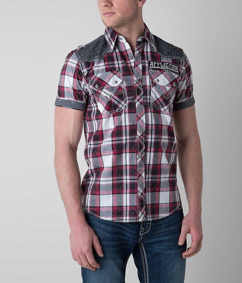 Affliction Black Premium Grand Marshall Shirt front view