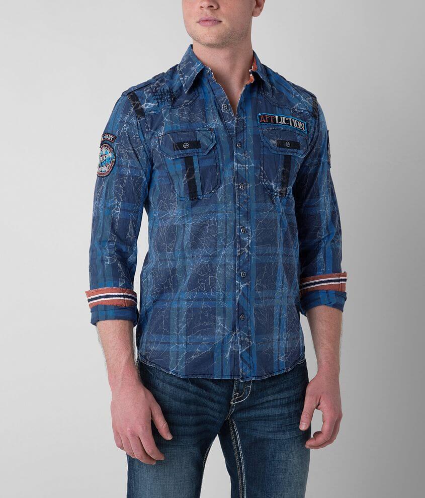Affliction Black Premium Dark Forest Shirt front view